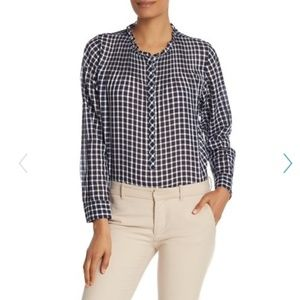 Nwt, J.Crew gingham button up blouse